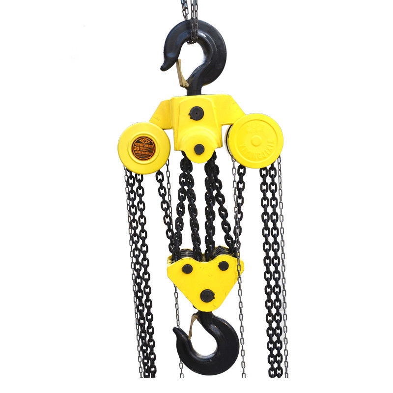 Safe 10 Ton Manual Chain Hoist , Chain Pulley Block With Hook Good Performance